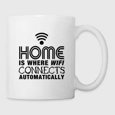 home is where the wifi connects automatically II - Mug blanc