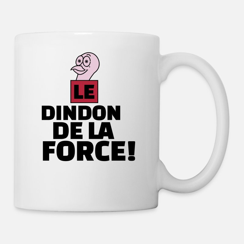 Dindon Mugs et gourdes - dindon de la force - Mug blanc