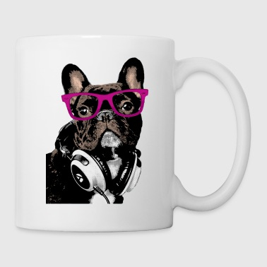 AD Hipster Frenchie - Mugg