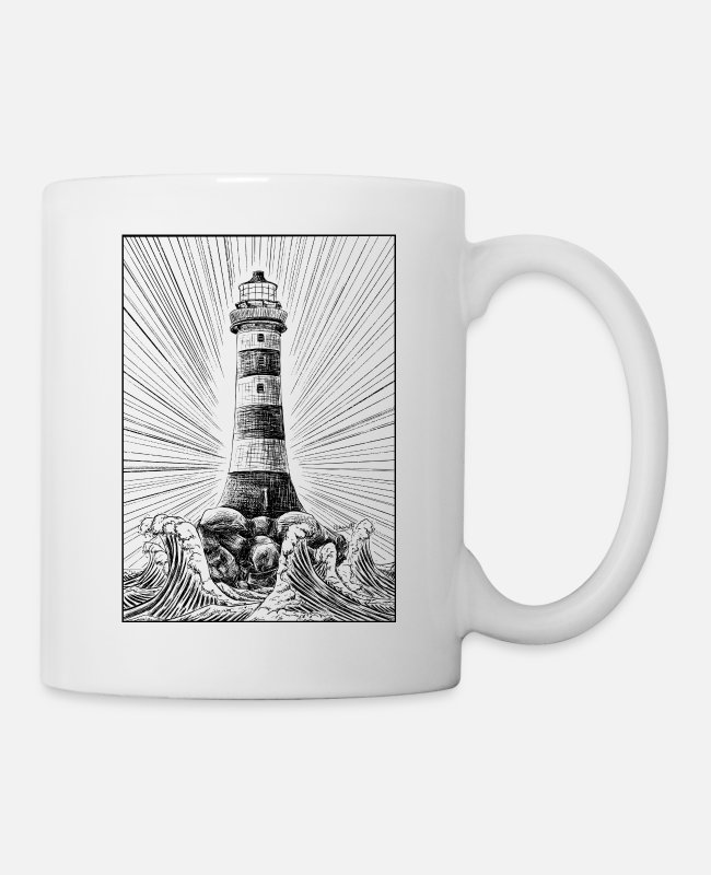 Vintagecontest Mugs & Drinkware - Lighthouse - Mug white