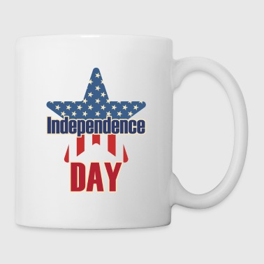 Independence Day 4 juillet USA - Mug blanc