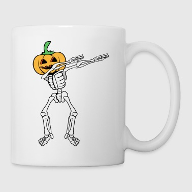 Dabbing Dancing Halloween Monster Skeleton Pumpkin - Kubek