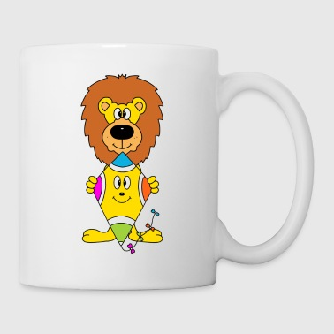 Cute lion with kite - Mug
