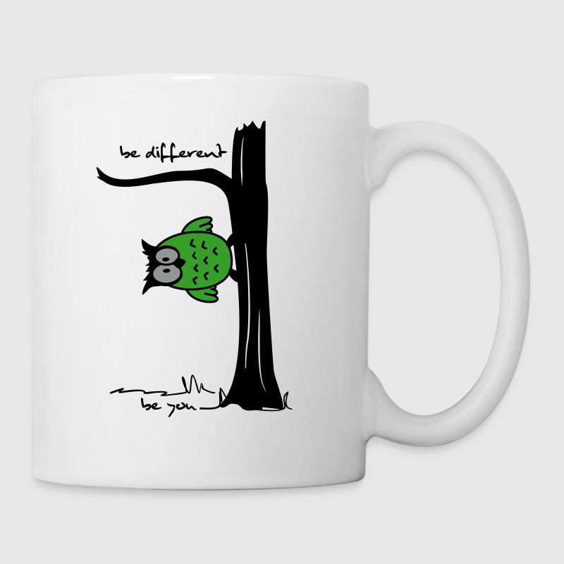 Eule auf Baum be different, be you - Tasse