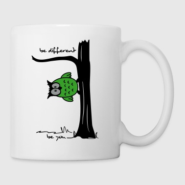Eule Eule auf Baum be different, be you - Tasse