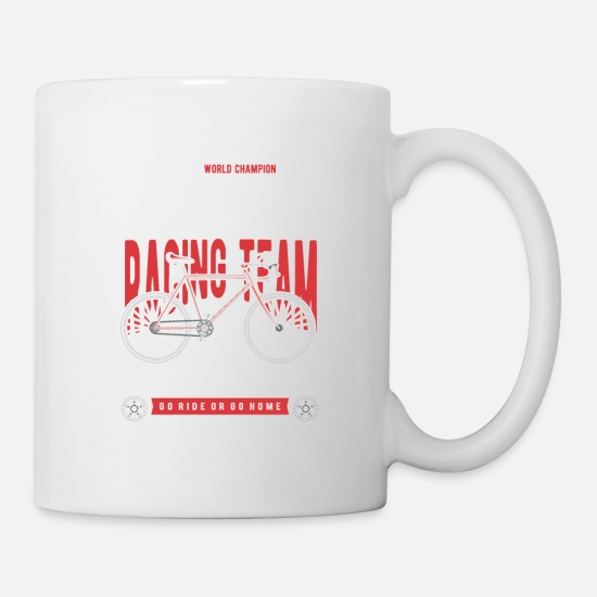 Gift Idea Mugs & Drinkware - Bike Race T-Shirt - Mug white