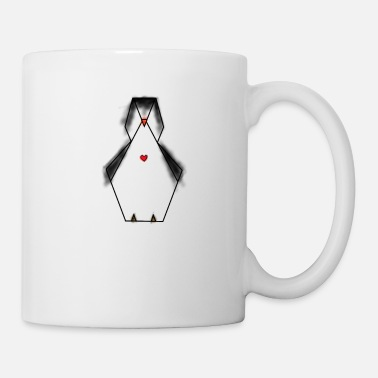 Hipster penguin heart geometric animal gifts Arctic ice cream - Mug