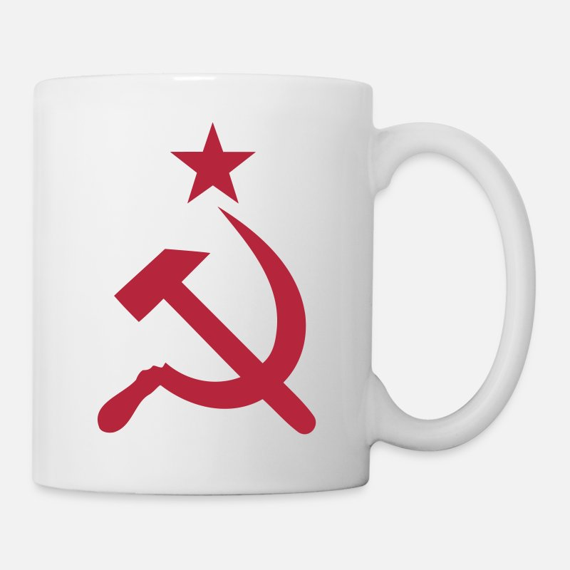 Communism Mugs & Drinkware - Hammer and sickle - Mug white