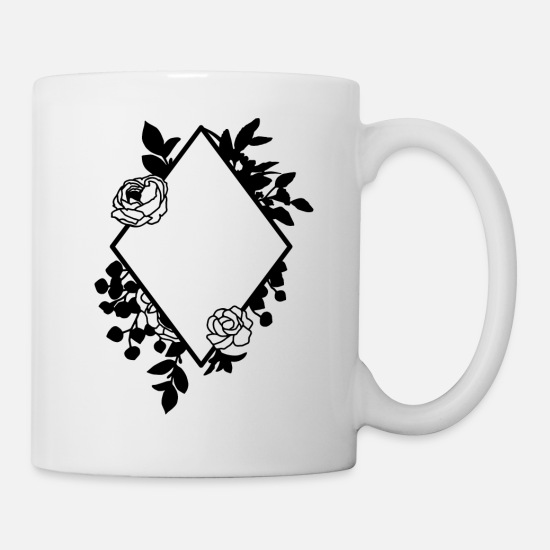 Birthday Mugs & Drinkware - Floral flower flowers bouquet plant - Mug white