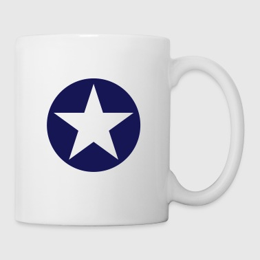 star single blackcircle single - Mug blanc
