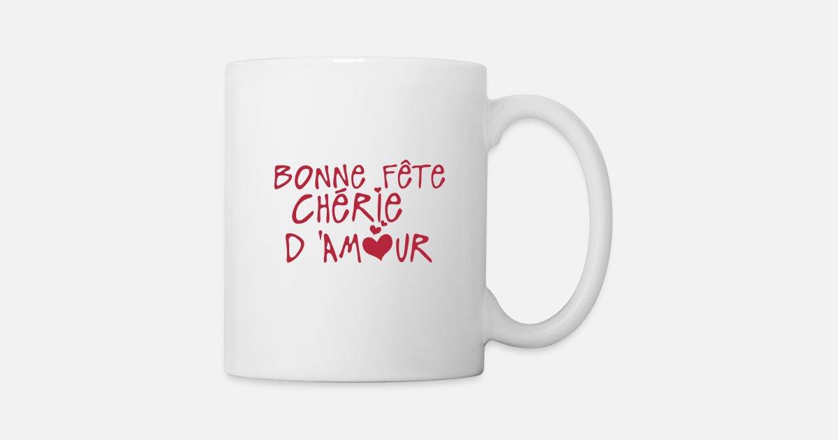 Cherie bonne fete amour coeur de c2b spreadshirt - Bonne fete cheri ...