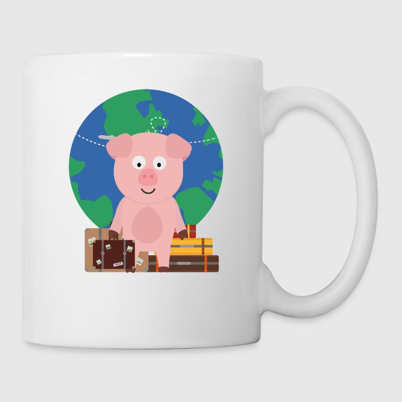 GlobeTrotter travel pig with Sfrz8 design - Mug