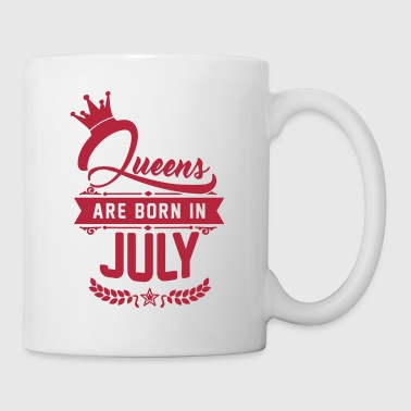 Queens are born in July - Mug blanc