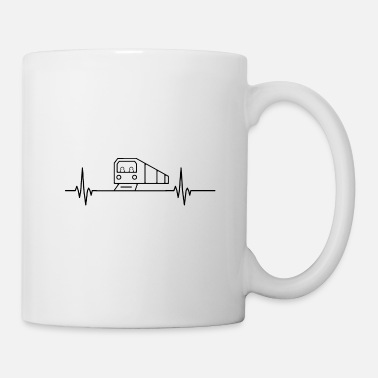 Funny Saying Subway heartbeat pulse metro train lover - Mug