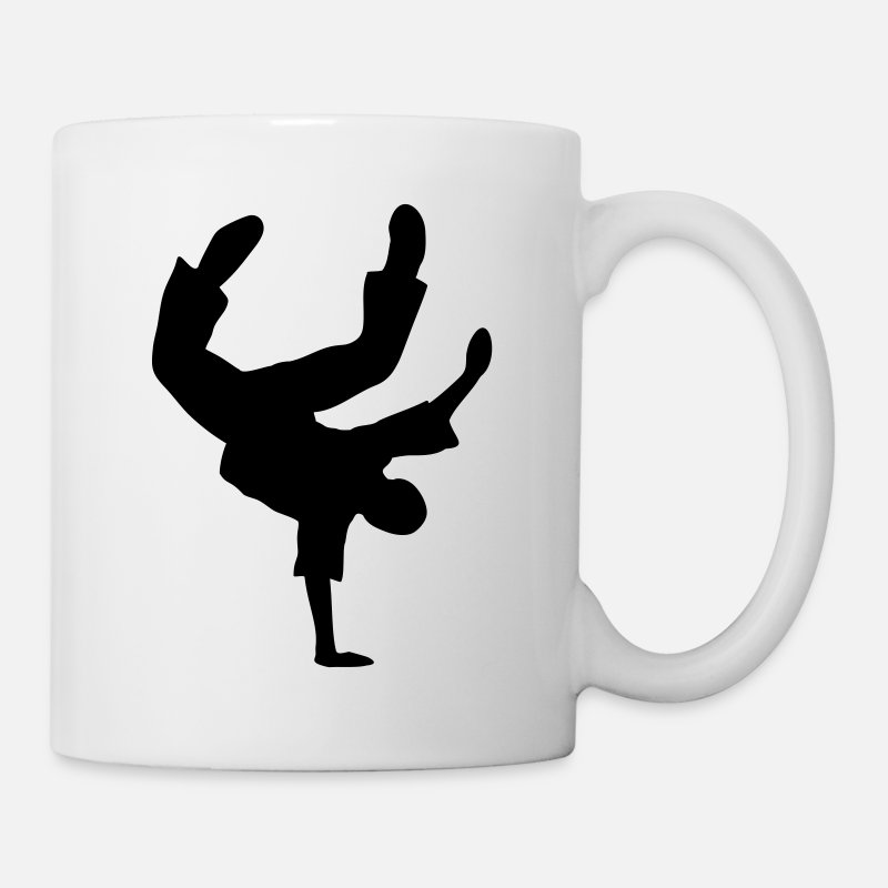 Breakdance Tazas y accesorios - Breakdance danza break música silueta Clipart - Taza blanco