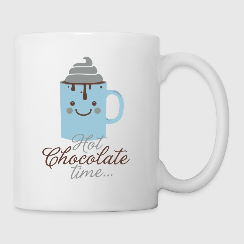Funny cute mug with i love hot chocolate with sweet cream time slogan in cold snow freezing fall winter t-shirts for geek chic, trendy girls, gift friend christmas mothersday valentine's day - Mug