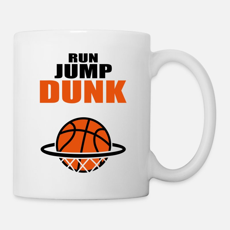Basketball Mugs & Drinkware - Run Jump Dunk: basketball basket  - Mug white
