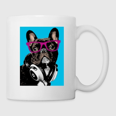 Pop Art Bulldog - Mug blanc