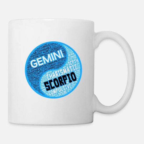 Gemini and Scorpio Zodiac Sign Man Love Mug Mug - white