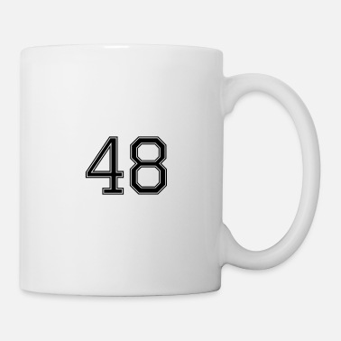 Big Nummer 48 American Football, Fußball, Sport Design - Tasse