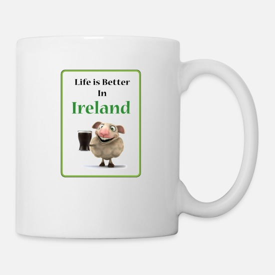 Best Mugs & Drinkware - Life is better in Ireland - Mug white