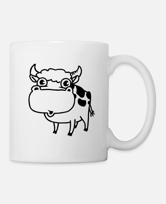 Animal Mugs & Drinkware - cow - Mug white