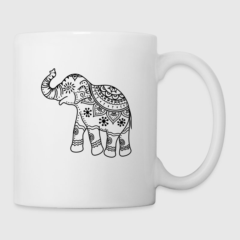 Elefante decorado - Taza
