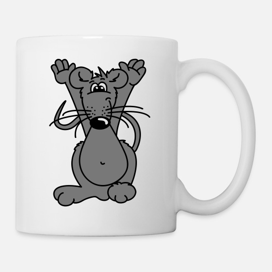 Fur Mugs & Drinkware - Hands up - Mug white