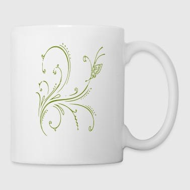 Strike abstract pattern green - Mug