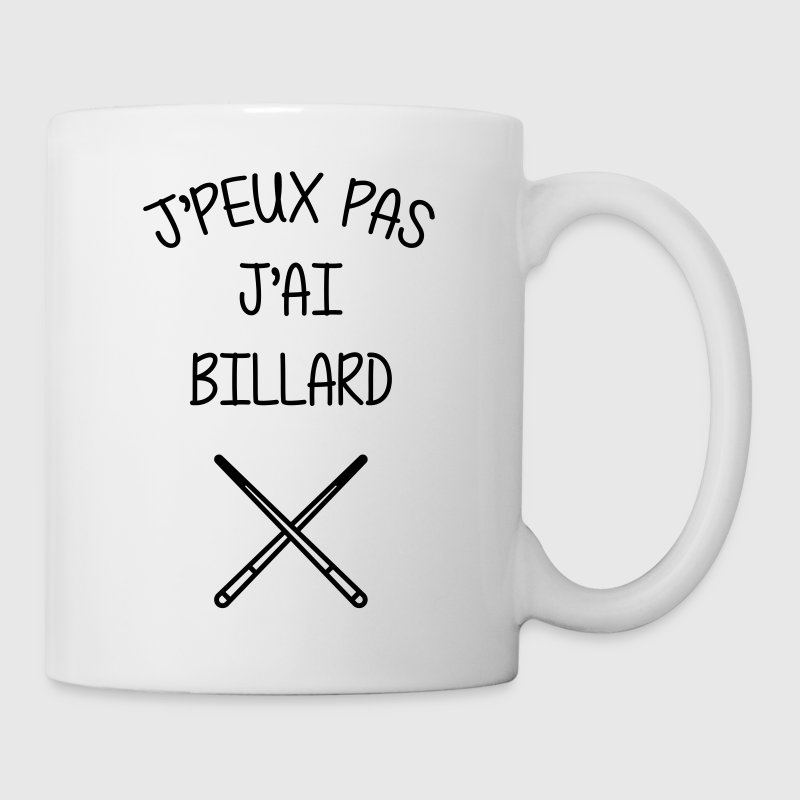 Billard / Snooker / Pool / Bar / Sport / Billiard - Mug blanc
