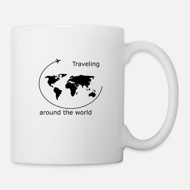 Welt Traveling around the World - Tasse