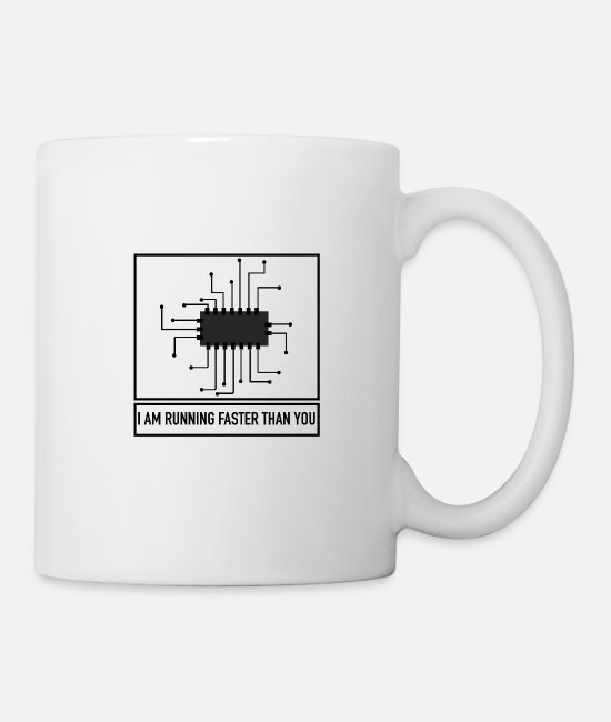 Geek Mugs & Drinkware - Board is Faster - Funny Gift Computer Science - Mug white