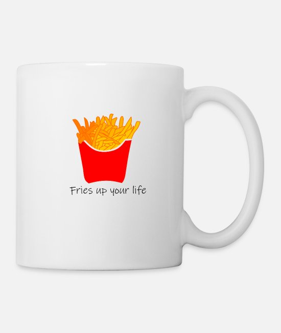 Quota Mugs & Drinkware - Fries up your life - Mug white