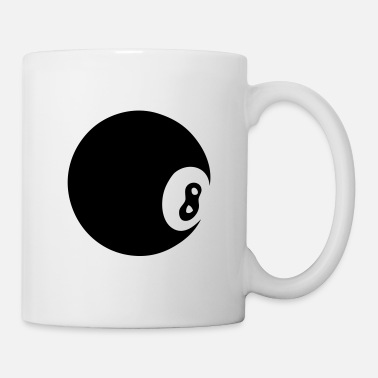 Ball 8 black billiard ball 8 - Mug