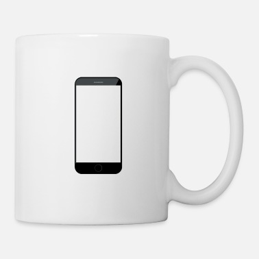 Plain iPhone smartphone black outline plain - Mug