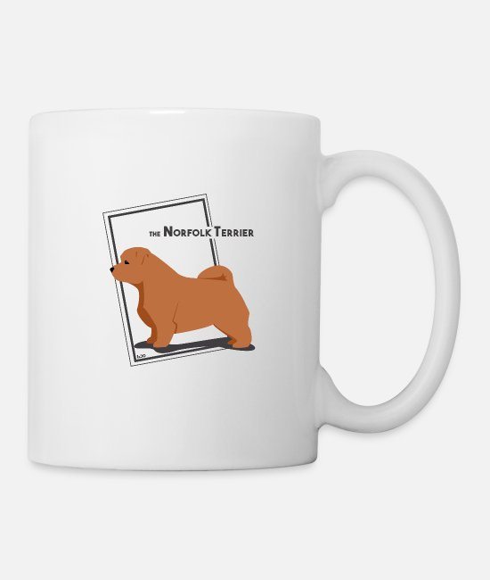 Warren Mugs & Drinkware - the Norfolk Terrier by IxCÖ - Mug white