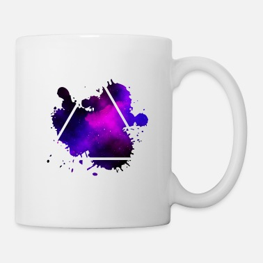 triangle splash violet - Triangle violet - Mug
