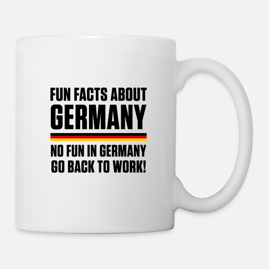 Federal Republic Of Germany Mugs & Drinkware - GERMANY FUN FACTS - Mug white