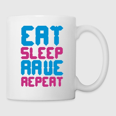 Eat Sleep Rave Repeat - Mug