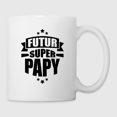 annonce grossesse futur super papy - Mug blanc