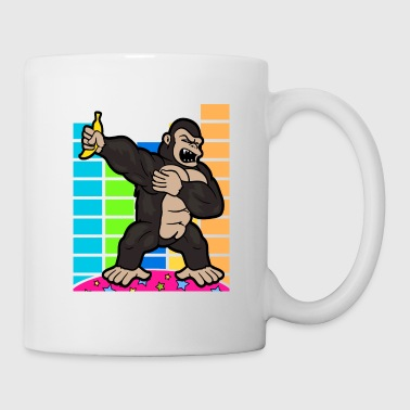 Retro Vintage Dabbing Dab Disco Party Gorilla Monkey - Mugg