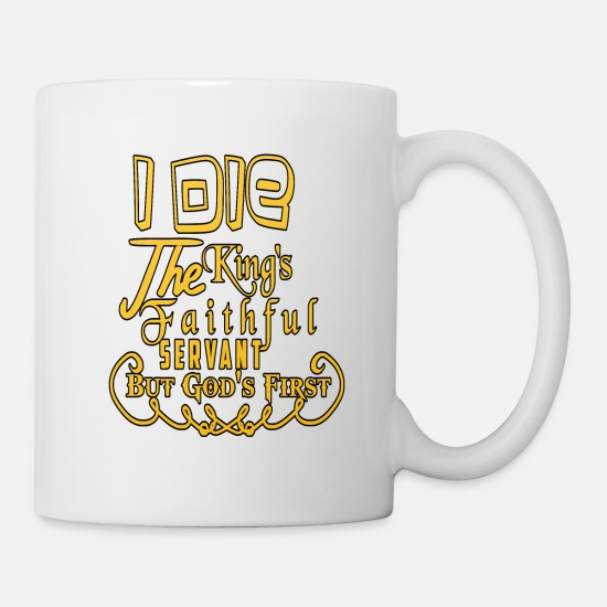 King Queen Mugs & Drinkware - King The King I am the king gift - Mug white