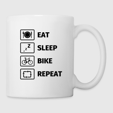 Eat Sleep Bike Repeat - Mug blanc