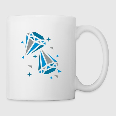 Deux diamants - Mug blanc
