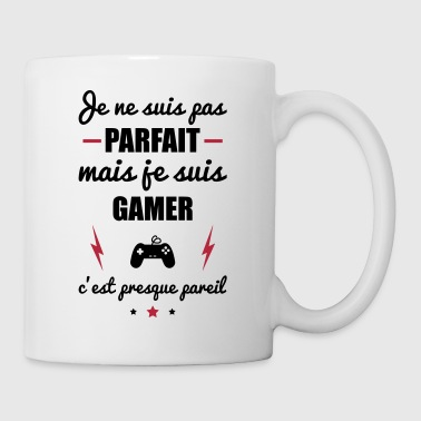 pas parfait mais gamer, gaming, gameur, nerd - Mug blanc