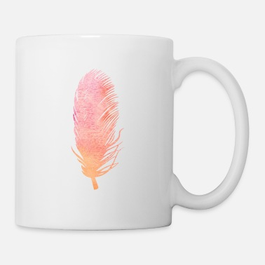 Feather Feather feathers feathers gradient - Mug