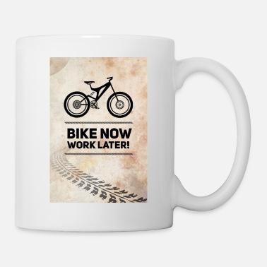 bike now Fahrrad MTB neon Spruch Rad Rennrad bmx Poster
