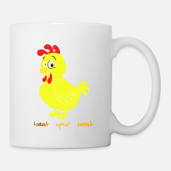 Chicken Coop Mugs & Drinkware - funny chicken - Mug white