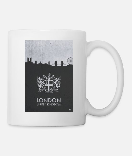 Illustration Mugs & Drinkware - In The City: LONDON (alt.) - Mug white