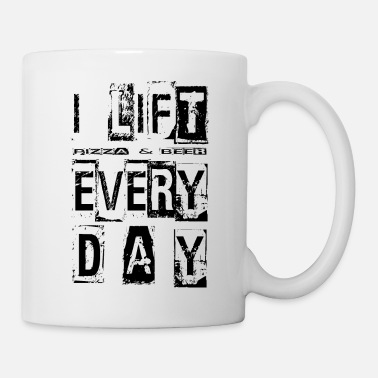 Pizza I Lift Pizza and Beer Everyday Fitness Design - Tasse